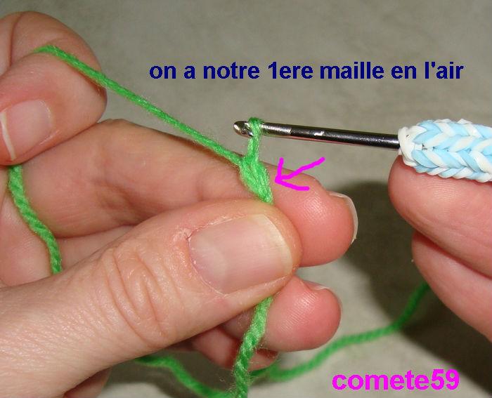 Tutoriel crochet apprendre la chainette - Crochet maille en l air ...