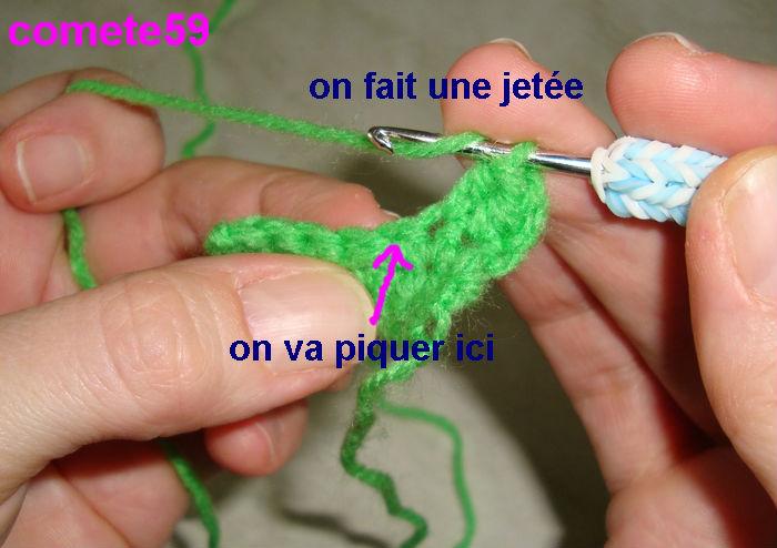 Tutoriel crochet apprendre la maille demi bride - Demi bride au crochet ...